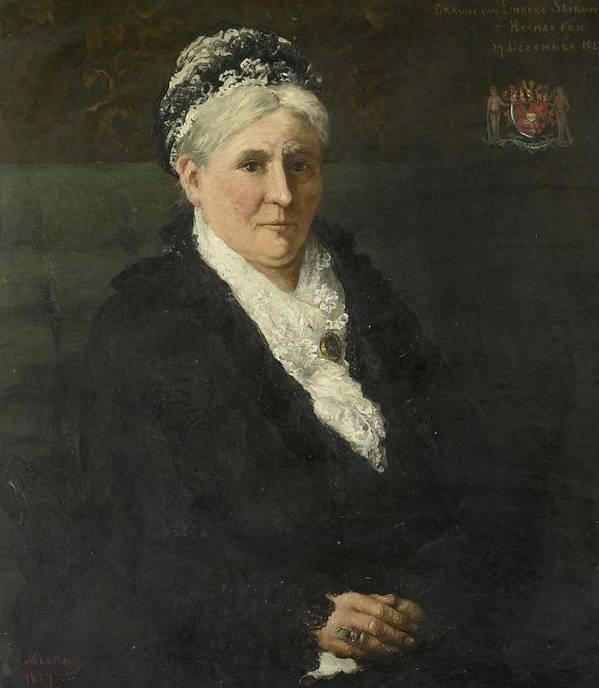 Maria Hermina Heemskerk (1827-1908). Wife Of David Menno Graaf Van Limburg Stirum Poster featuring the painting Wife Of David Menno by Hendrik Willem