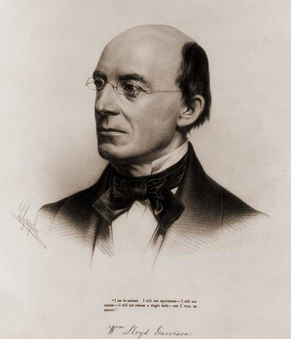 History Poster featuring the photograph William Lloyd Garrison 1805-1879 Joined by Everett