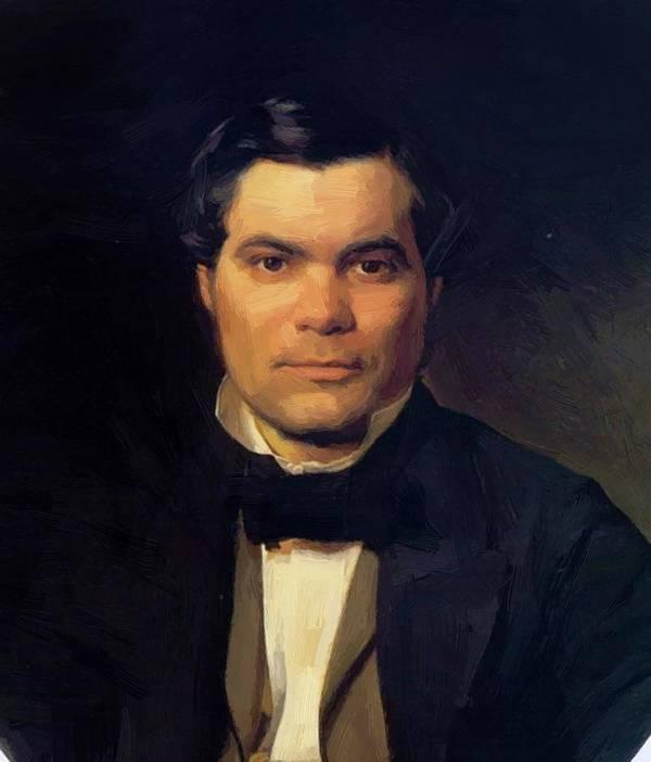 Portrait Poster featuring the painting Portrait Of Yakov Merkulov by Ge Nikolai