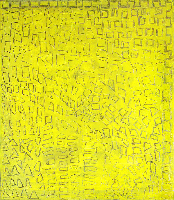 Abstract Golden City Yellow Signs Texts Hieroglyfs Alexander The Great Poster featuring the painting Alexandria by Joan De Bot