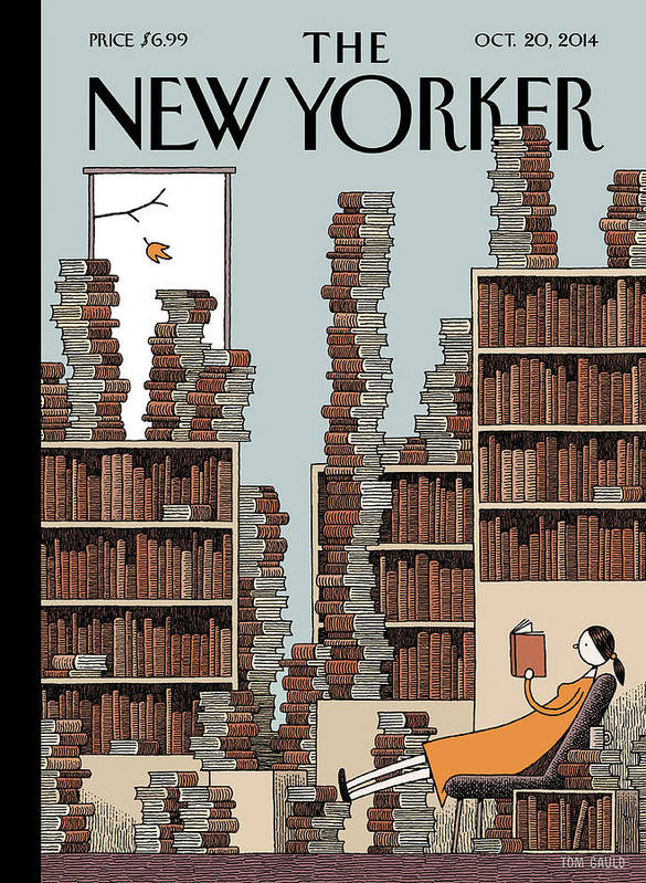Books Poster featuring the painting Fall Library by Tom Gauld