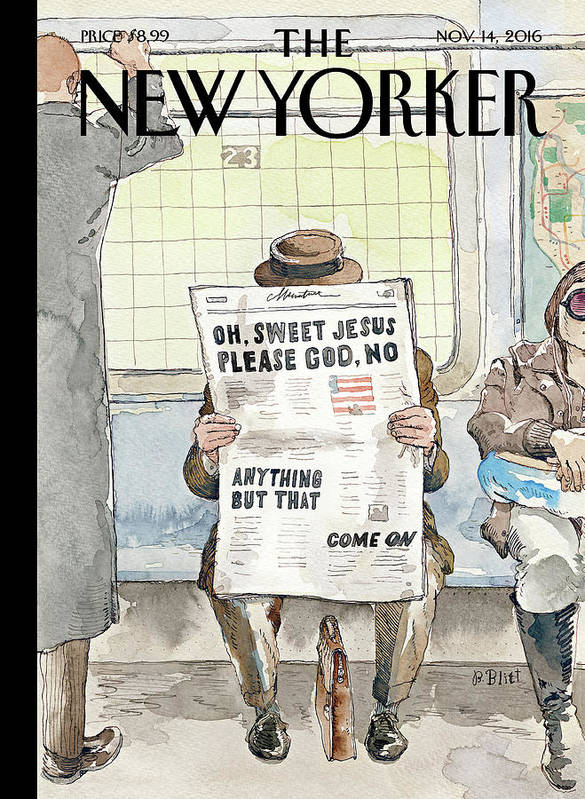 Trump Poster featuring the painting Anything But That by Barry Blitt