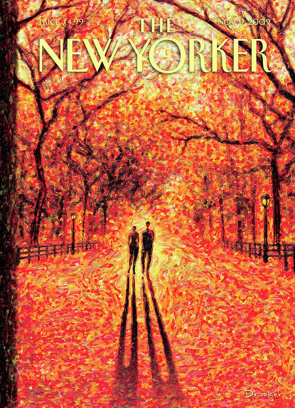 Nature Poster featuring the painting Autumn In Central Park by Eric Drooker