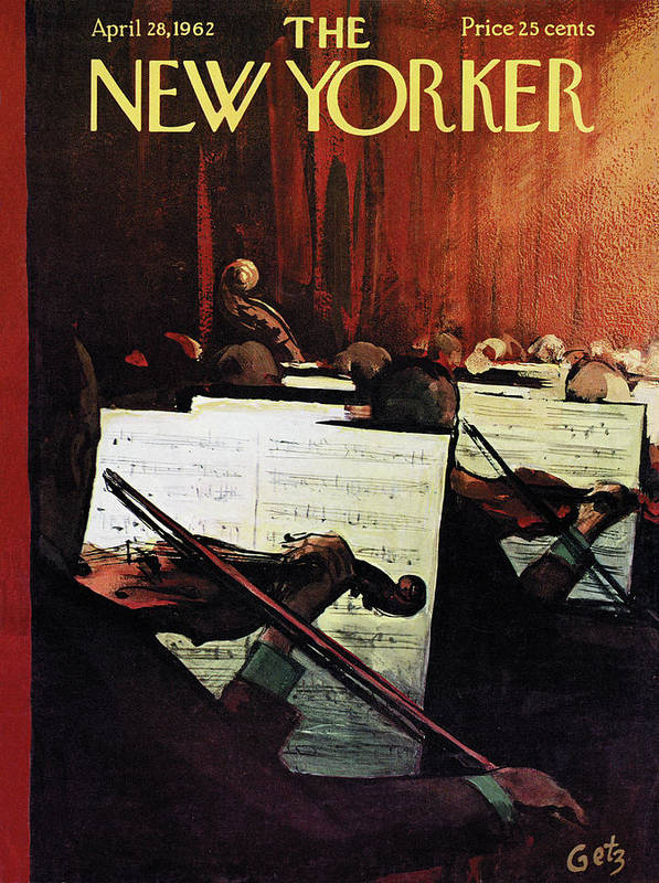 Concert Poster featuring the painting New Yorker April 28th, 1962 by Arthur Getz