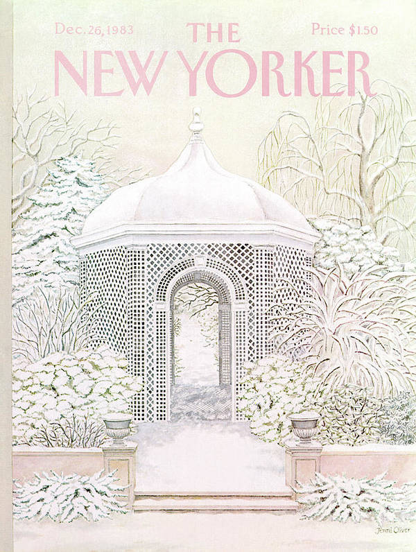 Gazebo Poster featuring the painting New Yorker December 26th, 1983 by Jenni Oliver