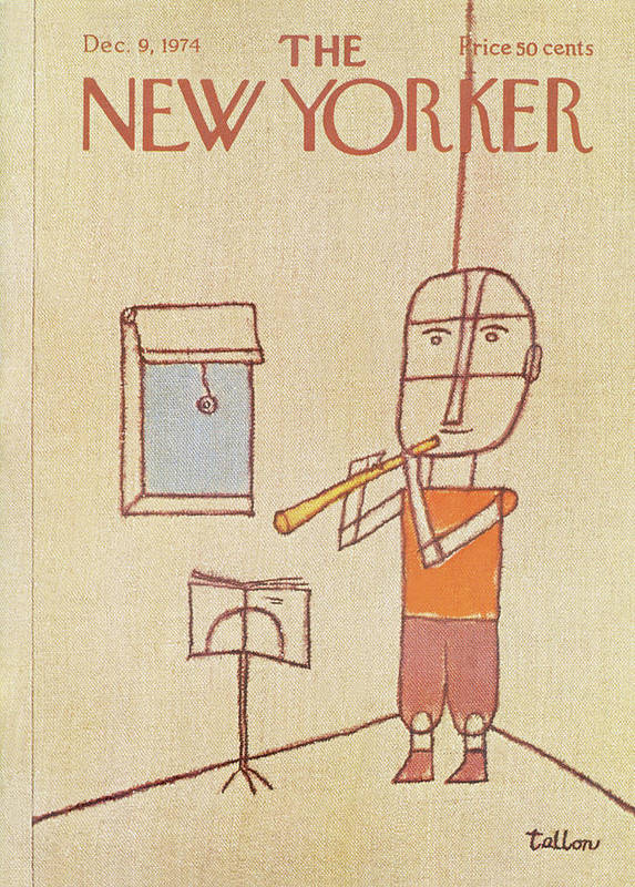 Music Poster featuring the painting New Yorker December 9th, 1974 by Robert Tallon