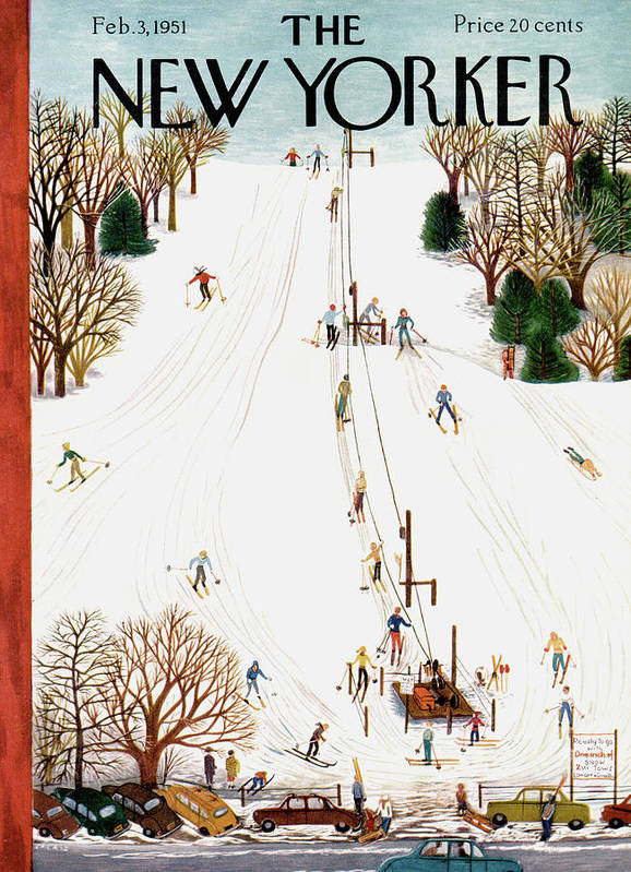 Season Poster featuring the painting New Yorker February 3rd, 1951 by Ilonka Karasz