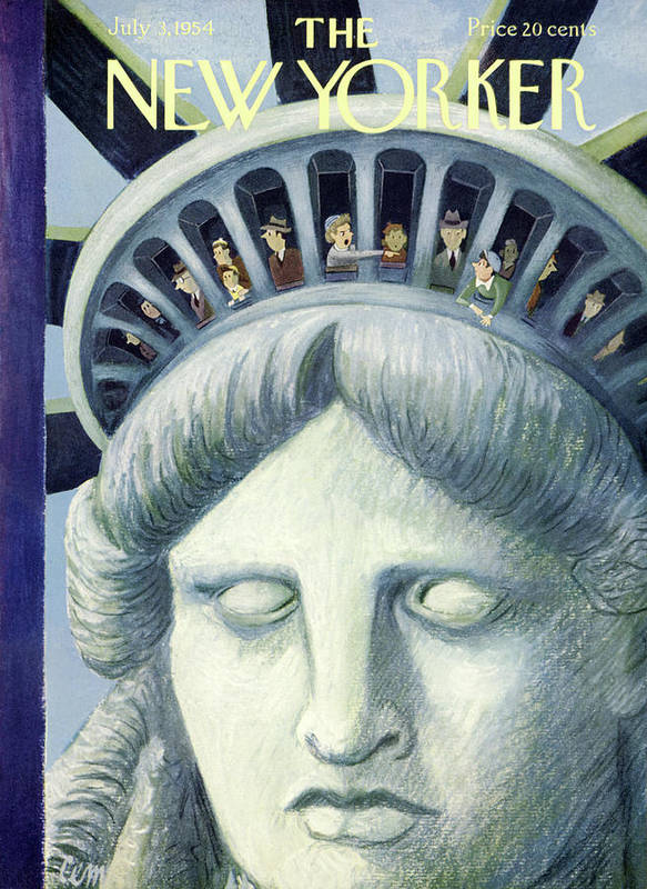 Age Poster featuring the painting New Yorker July 3rd, 1954 by Charles E Martin
