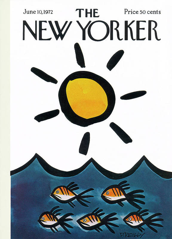 Donald Reilly Poster featuring the painting New Yorker June 10th, 1972 by Donald Reilly