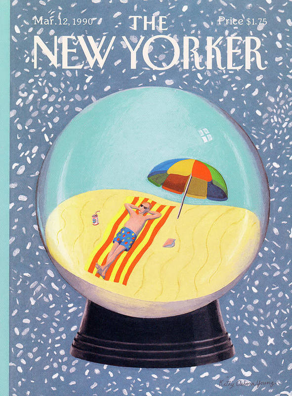 Leisure Poster featuring the painting New Yorker March 12th, 1990 by Kathy Osborn