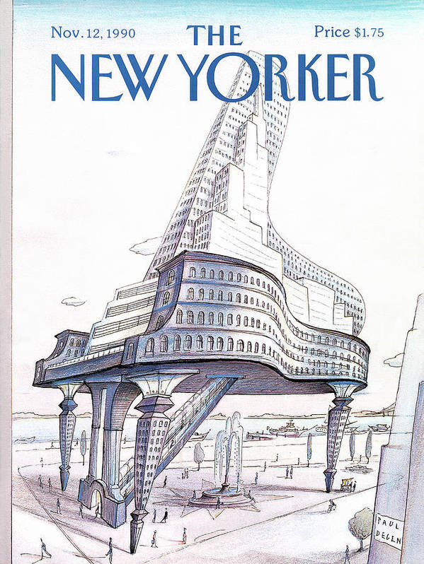 Business Poster featuring the painting New Yorker November 12th, 1990 by Paul Degen