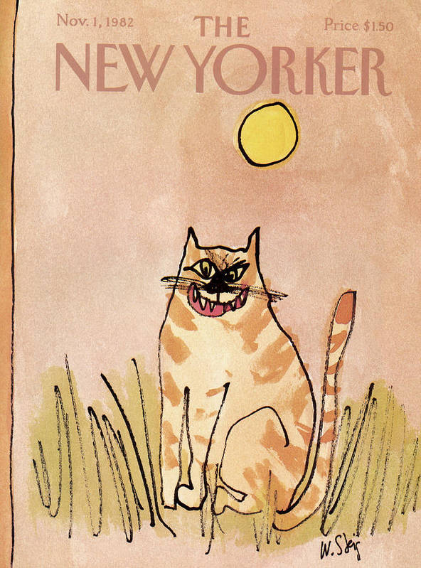 Holidays Poster featuring the painting New Yorker November 1st, 1982 by William Steig