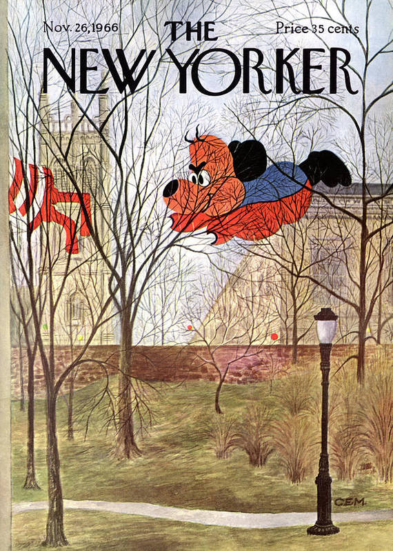 (a View Of A Large Poster featuring the painting New Yorker November 26th, 1966 by Charles E Martin