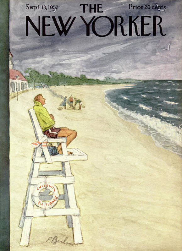 Leisure Poster featuring the painting New Yorker September 13th, 1952 by Perry Barlow