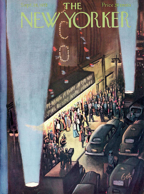 Urban Poster featuring the painting New Yorker September 26th, 1953 by Arthur Getz