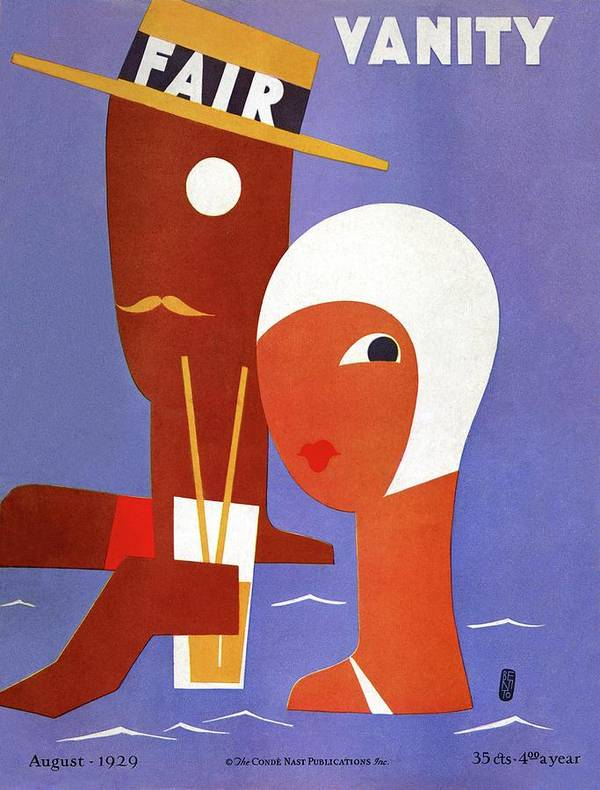 Illustration Poster featuring the photograph Vanity Fair Cover Featuring A Man And A Woman by Eduardo Garcia Benito