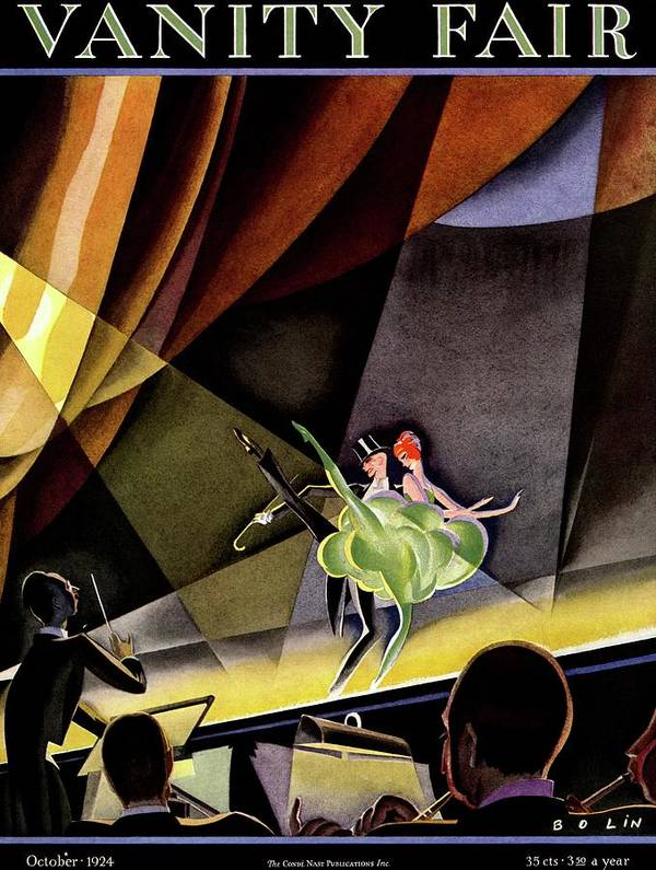 Illustration Poster featuring the photograph Vanity Fair Cover Featuring Two Performers by William Bolin