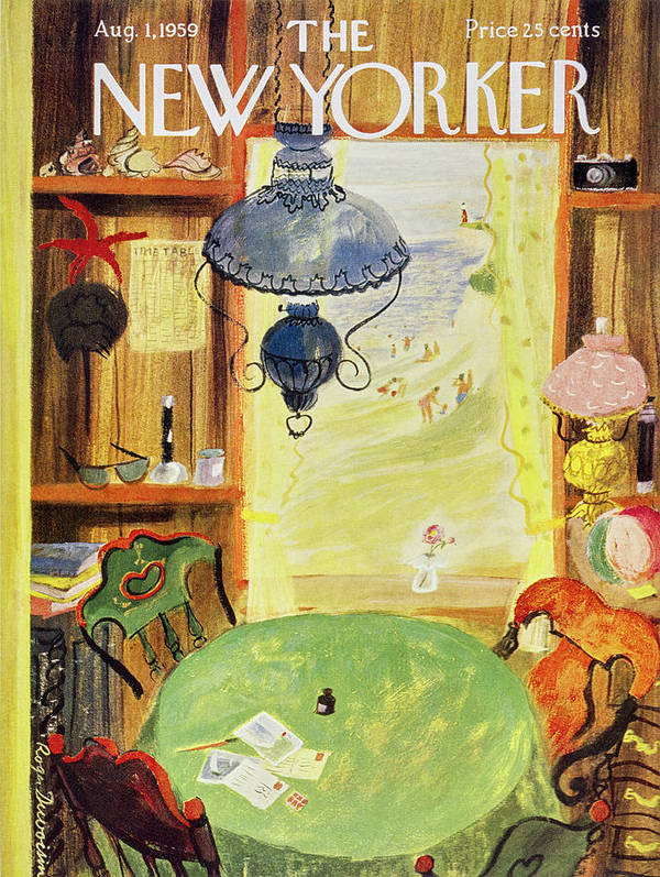 Vacation Poster featuring the painting New Yorker August 1 1959 by Roger Duvoisin