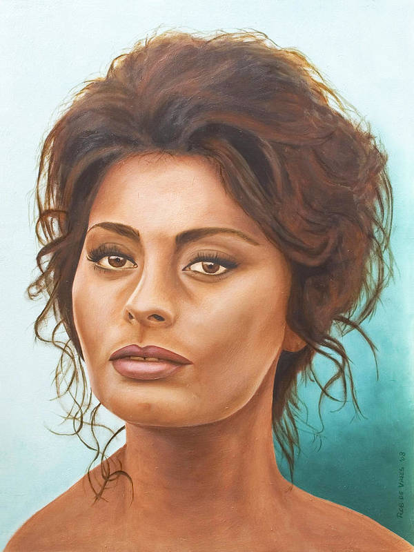 Moviestar Poster featuring the painting Sophia Loren by Rob De Vries
