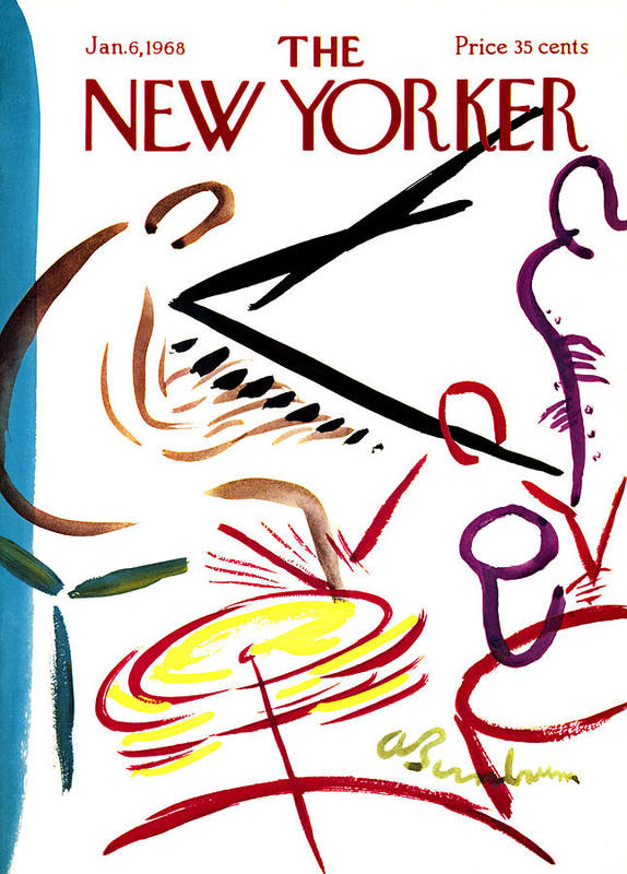 Music Poster featuring the photograph The New Yorker Cover - January 6th, 1968 by Conde Nast