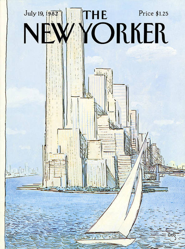 Regional Poster featuring the painting New Yorker July 19th, 1982 by Arthur Getz