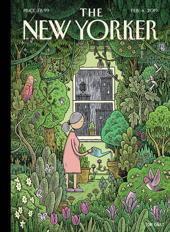 Winter Garden Poster featuring the painting Winter Garden by Tom Gauld