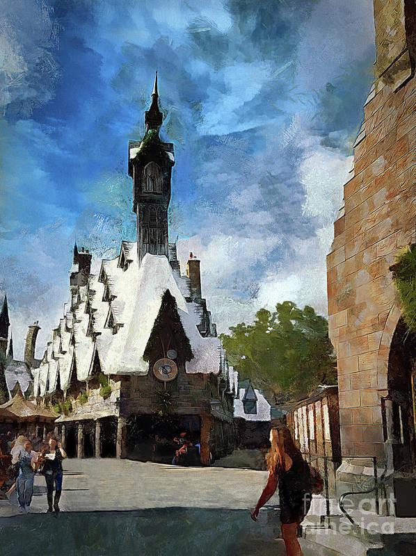 Hogsmeade Poster featuring the photograph Hogsmeade Clock Tower by Cedric Hampton