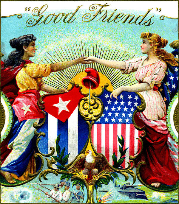 1898 Good Friends Cuban Cigars Poster By Historic Image