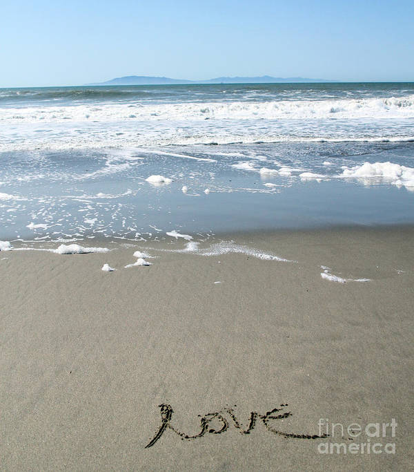 Ocean Poster featuring the photograph Beach Love by Linda Woods