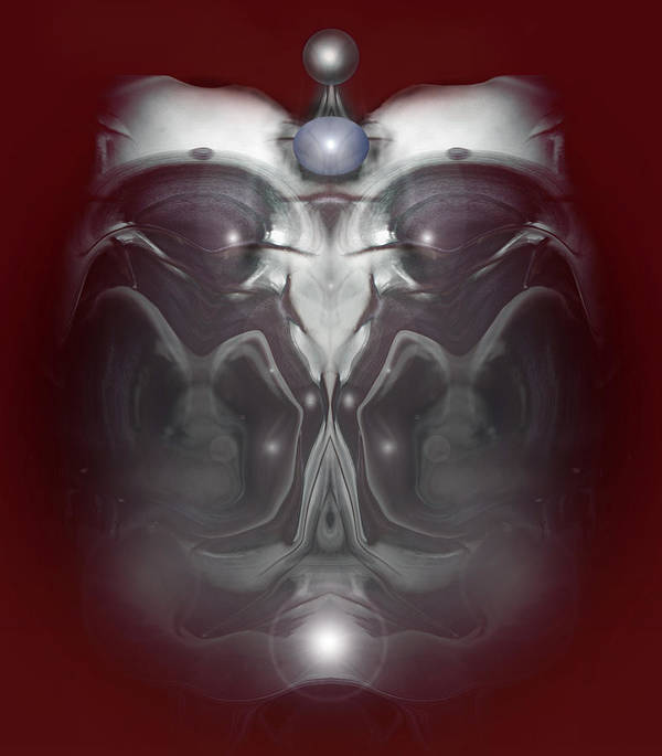 digital Art Poster featuring the digital art Cherub 7 by Otto Rapp