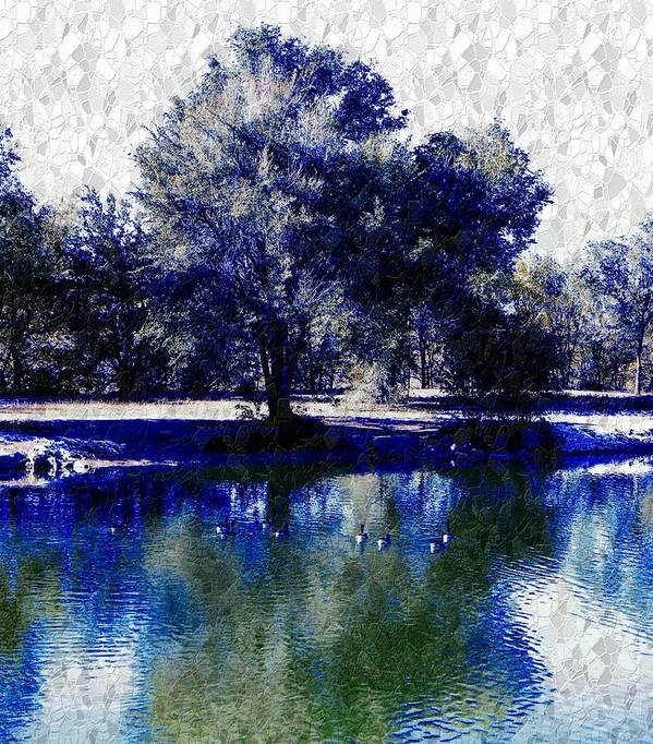Vibrant Poster featuring the photograph Vibrant Blue by Michelle Frizzell-Thompson