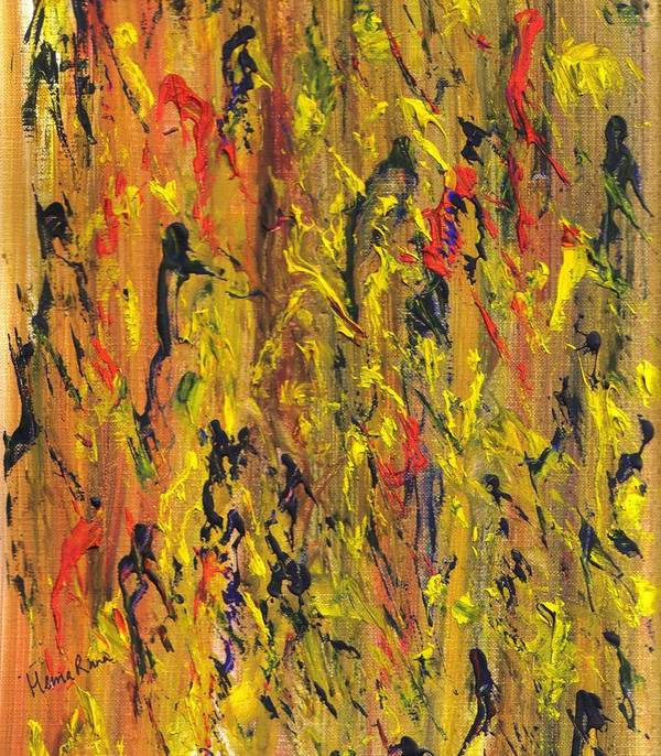 Abstract Paintings Poster featuring the painting Abstract Pattern by Hema Rana
