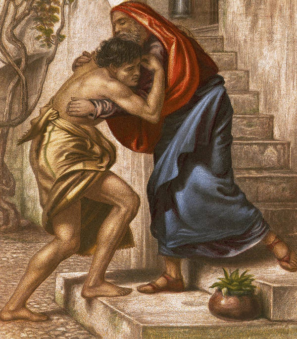Prodigal Poster featuring the painting The Return Of The Prodigal Son by English School