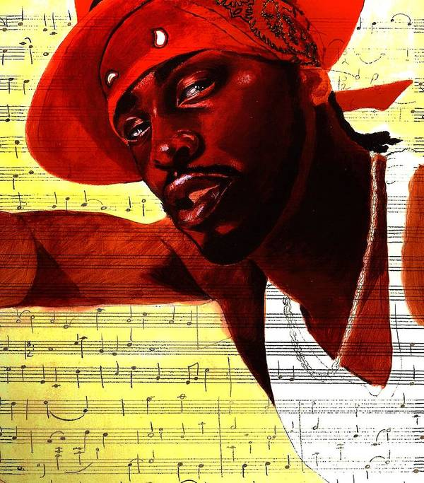Portraits Poster featuring the painting D'angelo-singer by Raphael Sanabria