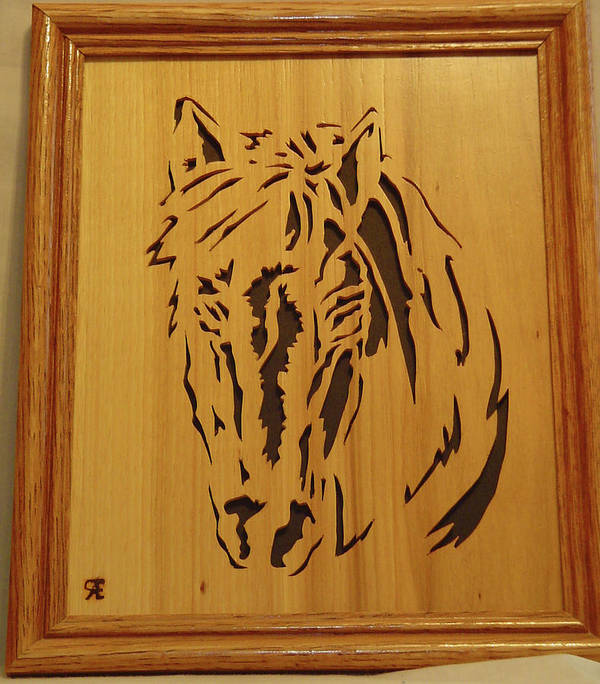 Sculpture Poster featuring the sculpture Horse Head by Russell Ellingsworth
