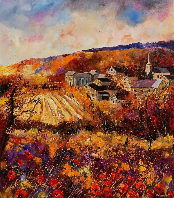 Poppies Poster featuring the painting Maissin by Pol Ledent