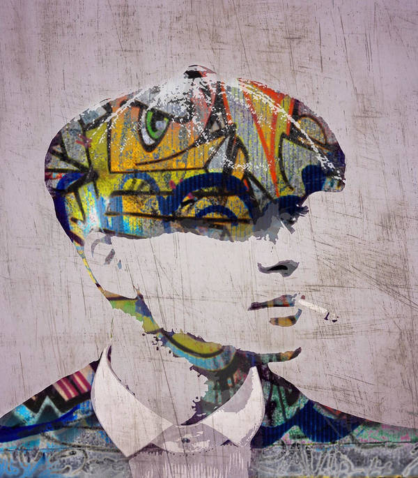 5e51ea77f Popart Poster featuring the digital art Peaky Blinder by Sara Sutton