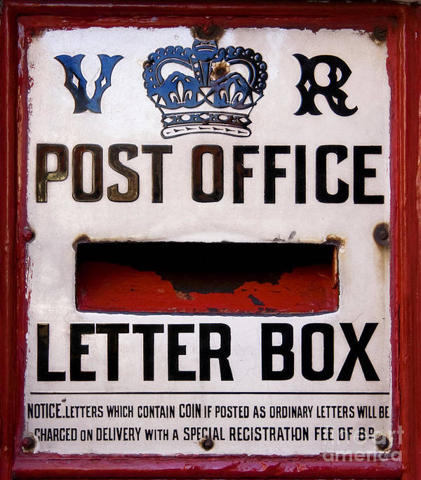 Background Poster featuring the photograph Post Box by Jane Rix