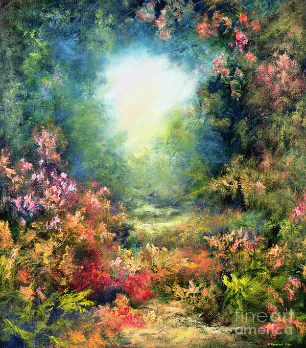 Divine Light Poster featuring the painting Rococo Delight by Hannibal Mane