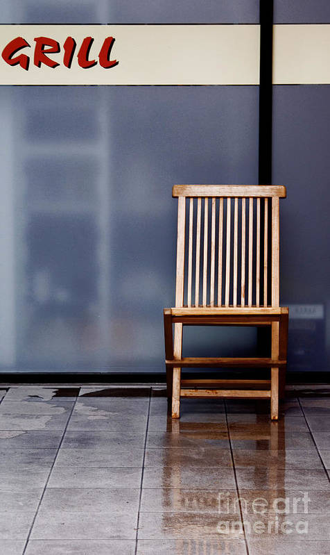 Chair Poster featuring the photograph Reflexion by Vadim Grabbe
