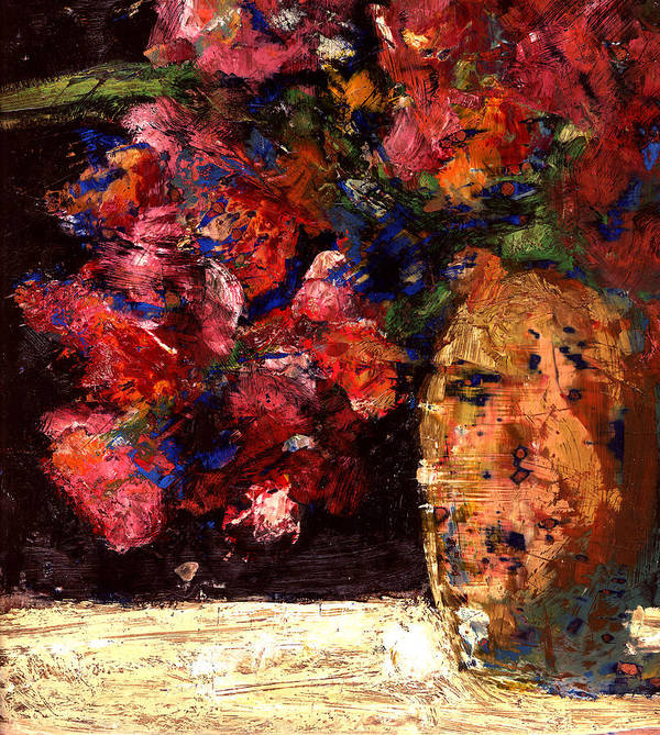 Still Life Poster featuring the painting Roses by Daniel Bonnell