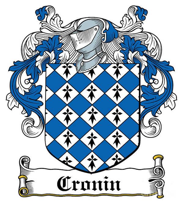 Cronin Poster featuring the digital art Cronin Coat Of Arms Irish by Heraldry