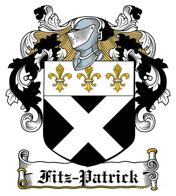 Fitz-patrick Poster featuring the digital art Fitzpatrick Coat Of Arms Irish by Heraldry