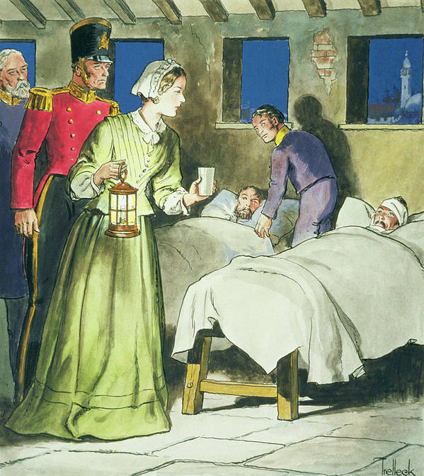 English Nurse Poster featuring the drawing Florence Nightingale From Peeps by Trelleek