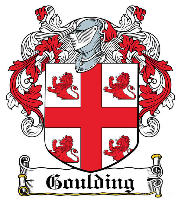 Goulding Poster featuring the digital art Goulding Coat Of Arms Irish by Heraldry