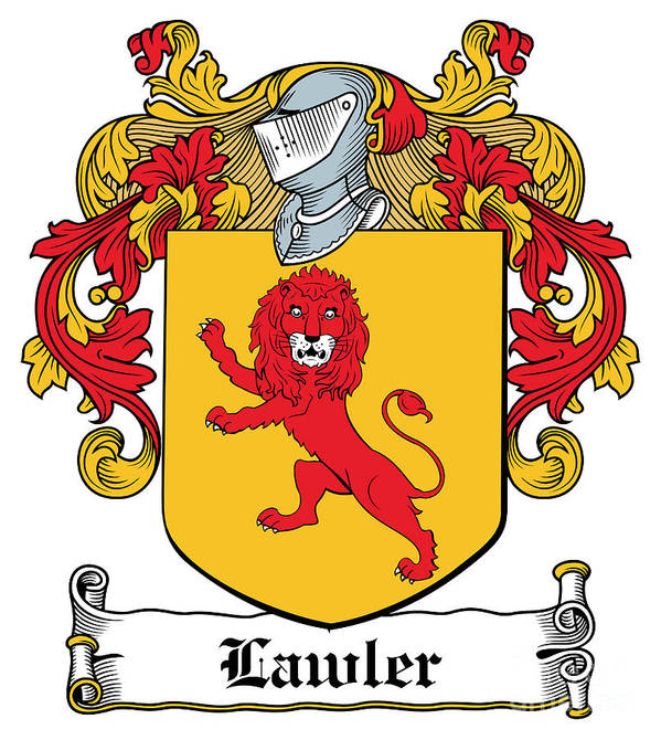 Lawler Poster featuring the digital art Lawler Coat Of Arms Irish by Heraldry