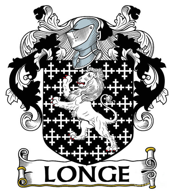Longe Poster featuring the digital art Longe Coat Of Arms Irish by Heraldry