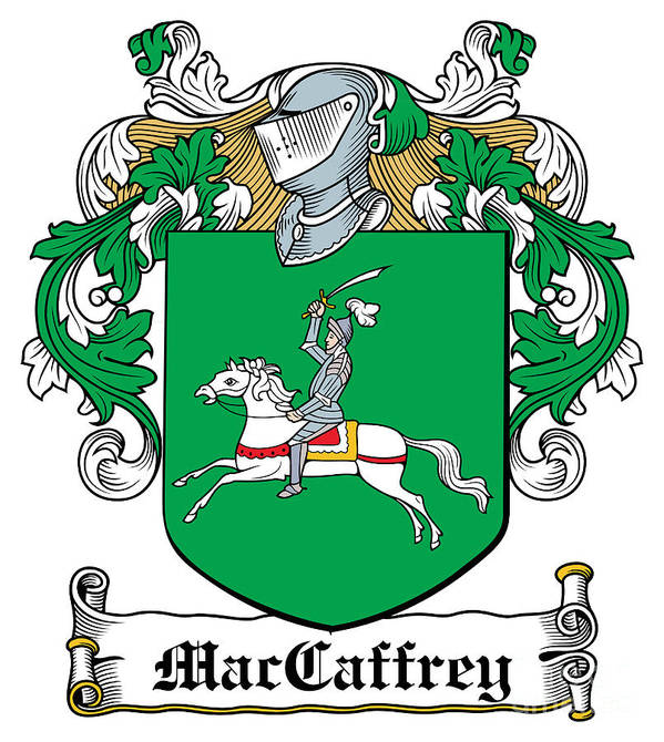 Maccaffery Poster featuring the digital art Maccaffery Coat Of Arms Irish by Heraldry