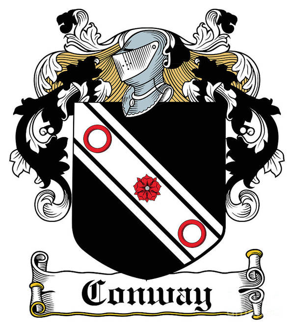 Macconway Poster featuring the digital art Macconway Coat Of Arms Irish by Heraldry