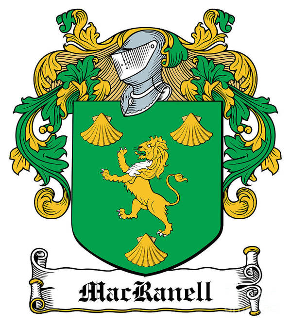 Macranell Poster featuring the digital art Macranell Coat Of Arms Leitrim Ireland by Heraldry